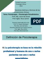 Psicoterapia - Psicoter Psicodinámica 2016
