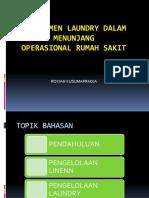 Manajemen Laundry Dalam Menunjang Qualitas Pel. Rs