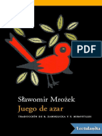 Juego de Azar - Sawomir Mroek