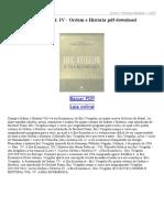 A Era Ecumênica Vol IV Ordem e História