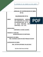 INFORME DE SUPERVISION N° 01