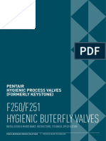 Hygienic Butterfly Valves F250 F251 Pentair Installation Operation