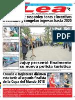 Periódico Lea Miércoles 11 de Julio Del 2018