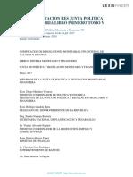 Bancario-codificacion Res Junta Politica Monetaria Libro Primero Tomo V
