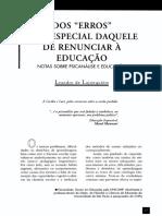 LAJONQUIÈRE, Leandro - Dos Erros, e em Especial Daquele em Renunciar a Educação - Texto..pdf