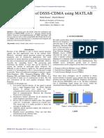 BER analysis of DSSS-CDMA using MATLAB