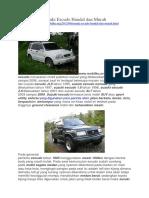 Mobilku.org - Suzuki Escudo Handal Dan Murah