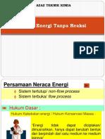 Pertemuan Neraca Energi Tanpa Reaksi