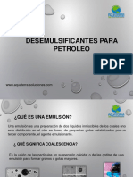 Desemulsificantes Para Petroleo