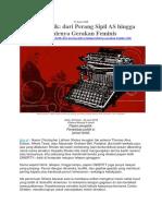 Mesin Ketik - Dari Perang Sipil as Hingga Lahirnya Gerakan Feminis