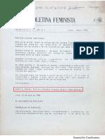 Boletina feminista N° 1 - 1988
