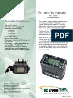 SF-SLS-216 (a) Riken FI-8000 Portable Gas Indicator Datasheet