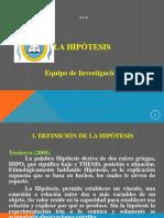 Tema No. 5 LA HIPÓTESIS Taller de Inv.
