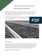 Kitasipil.com - Mengenal Fungsi Batu Kerikil Pada Rel Kereta API