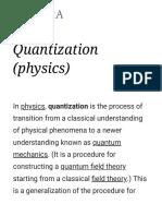 Quantization (Physics)