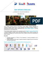 Tunisia Speaks English- Conference Recommendations
