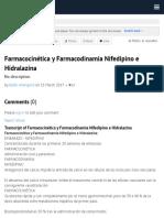 Farmacocinética y Farmacodinamia Nifedipino e Hidralazina by Belén Anangonó on Prezi