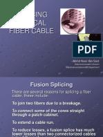 Splicing Optical Fiber Cable