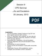 HKIFM CPD Lifts and Escalators