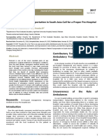 Journal Emergency Patient Transportation in South Asiacall for a Proper Prehospital Care System