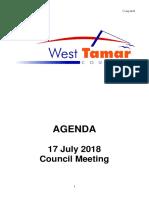 West Tamar Council July agenda