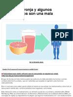 Consumer Updates  El jugo de toronja y algunos medicamentos son una mala combinación