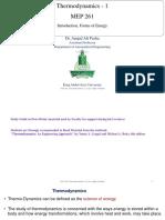 01 02 Thermodynamics Introduction Heat Work FormsofEnergy DrAmjad