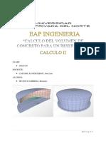 PROYECTO CALCULO II (volumen de solidos de revolución)