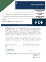 Fun Run Registration Form