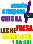 Letrero de Chupete