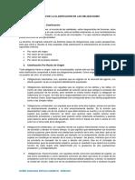 Resumen de La Clasificación de Las Obligaciones