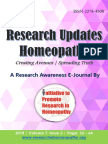Research Updates - Homeopathy | Vol-7 Issue-2
