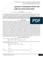 Spherical Homogeneous Cosmological Model with Conformally Invariant Scalar Field