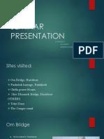 Presentation on Site Visits