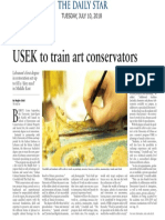 USEK to to train art conservators - The Daily Star del 10 luglio 2018