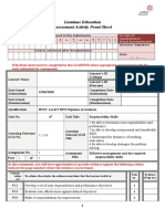 Employability Skills Front Sheet