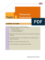 Chapter 6 Financial Statement Ratio Analysis