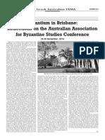 Byzantium in Brisbane
