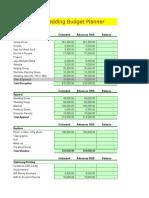 Wedding Budget Format
