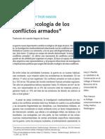 MACHLIS, on T. Sobre La Ecologia de Los Conflictos Armados