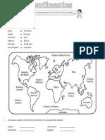 Actividades continentes