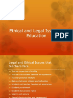 Ethical and Legal Issues in Education