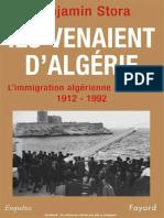Ils Venaient d'Algerie - Benjamin Stora