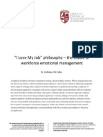 """I Love My Job"" philosophy – the cradle of workforce emotional management"