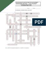 Crucigrama Estructura Celular Prof