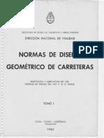 Norma Diseño Geometrico de Carreteras - Tomo I