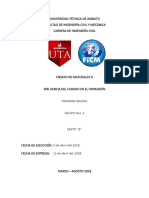 Informe 5 Influencia Del Curado en El Hormigon Fin 2018