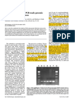 Method for isolation of PCR-ready genomic DNA from zebrafish tissues