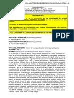 ARENAS PARRA, ALEJANDRO. Memoria Científico-técnica Proyectos 2015
