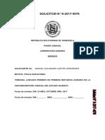 Titulo Supletorio Algenis Manuel Castro